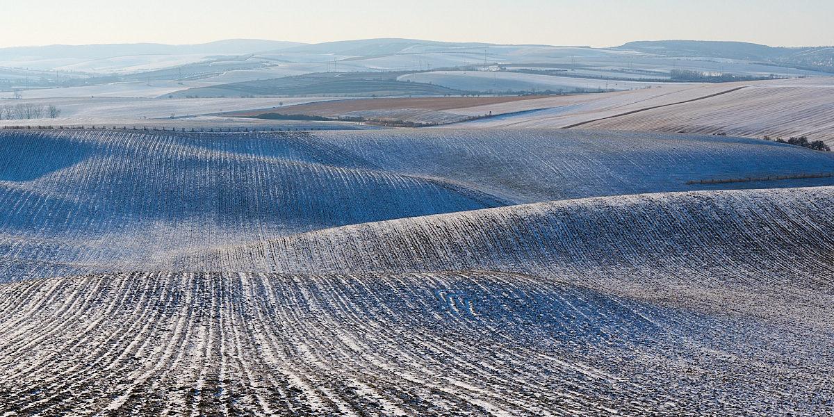 Zimní krajina Jižní Moravy